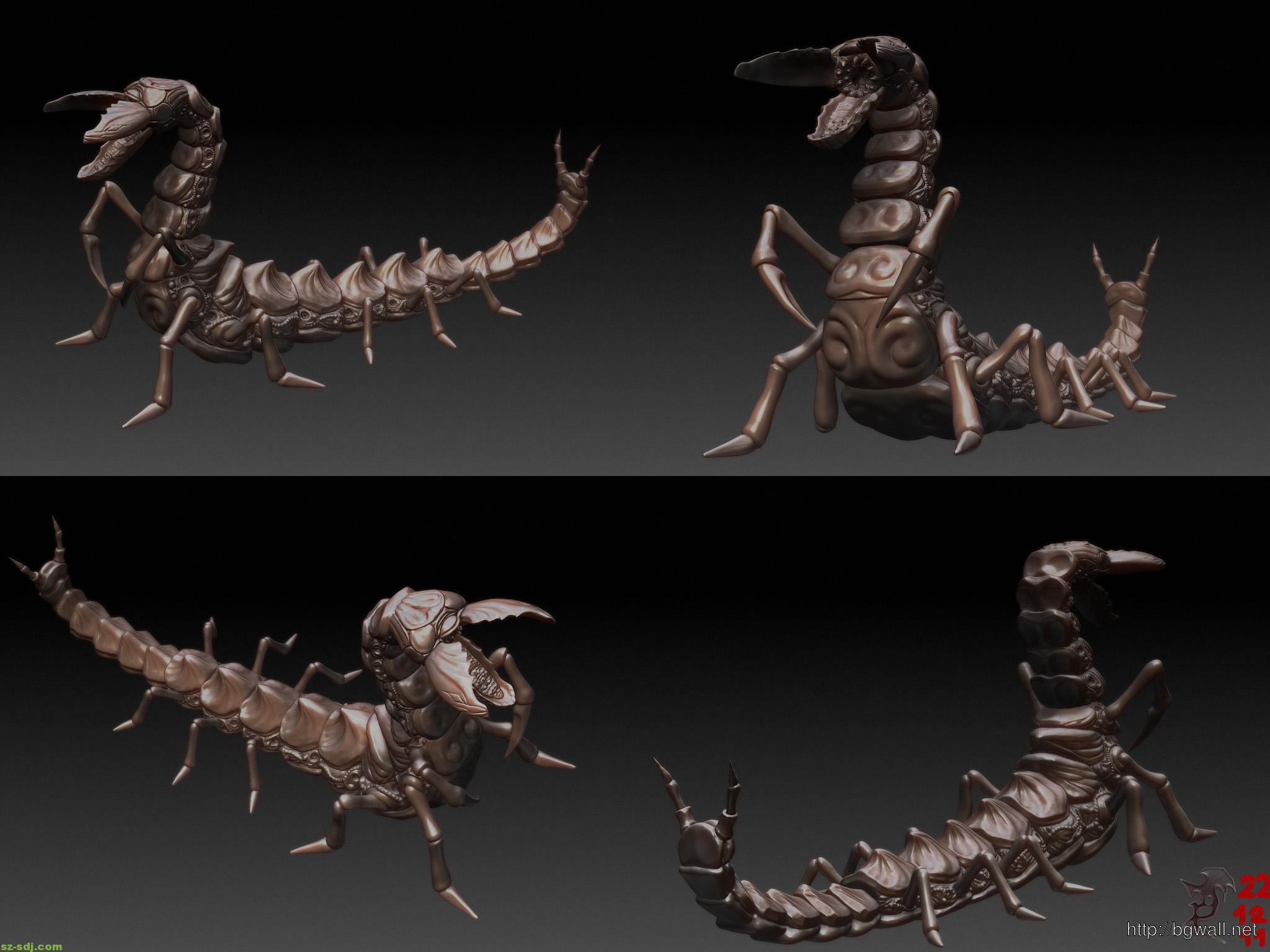 3d Dragon Centipede Artwork Wallpaper – Background ...