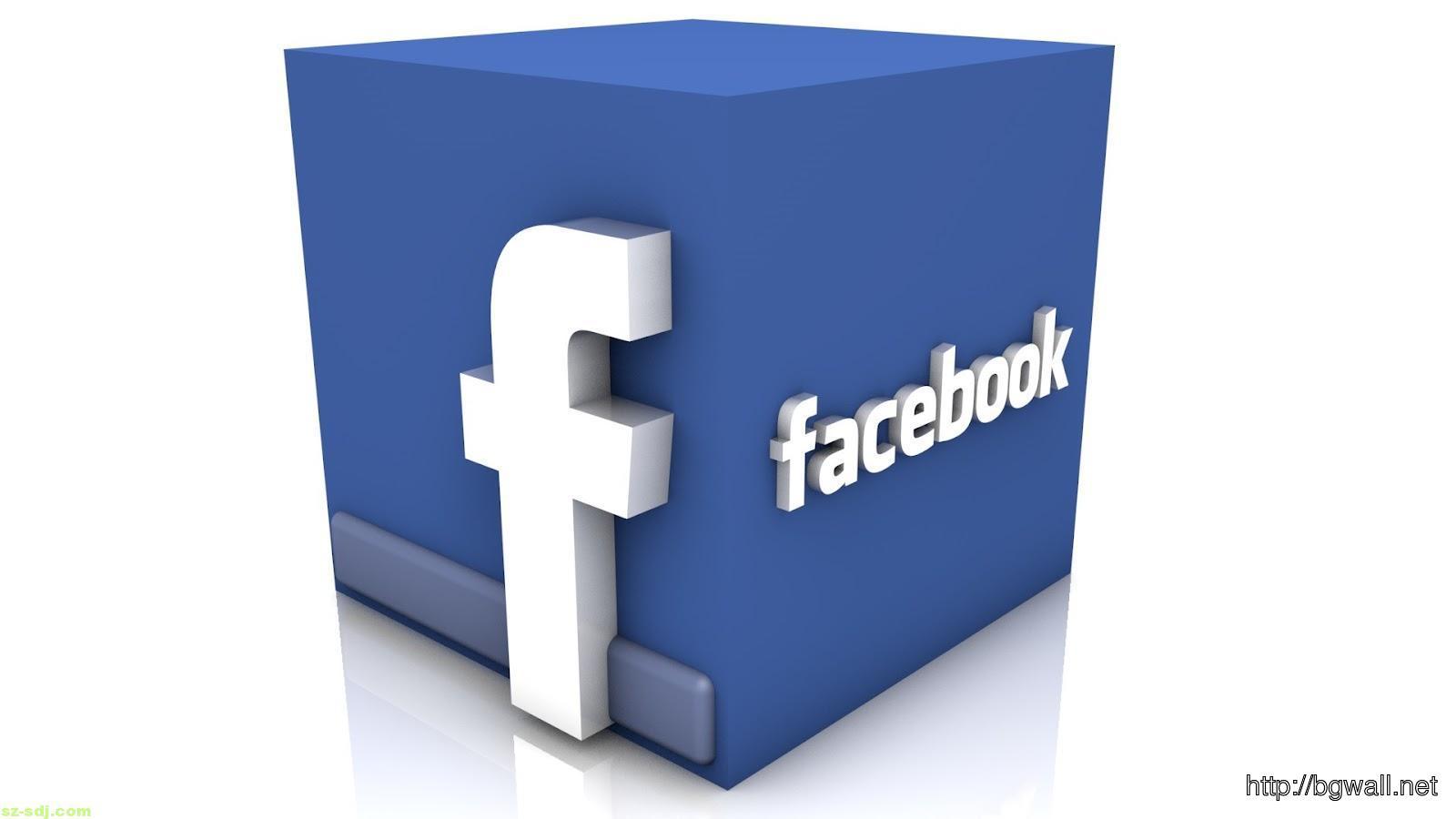 3d Facebook Logo Wallpaper Desktop Widescreen