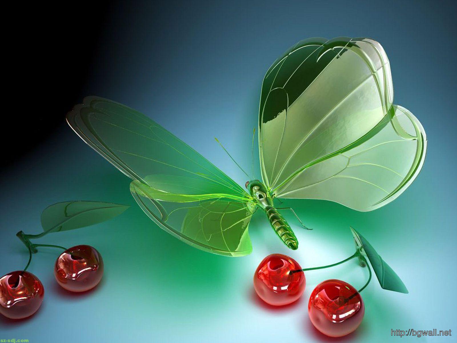3d-green-butterfly-wallpaper-for-iphone