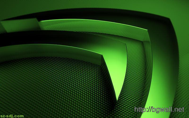 3d Nvidia Logo Green Wallpaper Hd