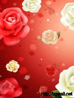 Antique-Art-Flowers-Wallpaper