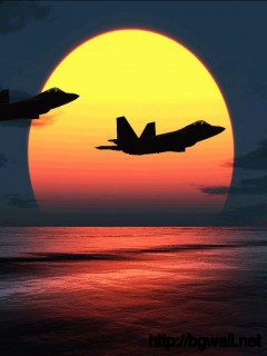 F-22-Airplane-on-sunset-Wallpaper
