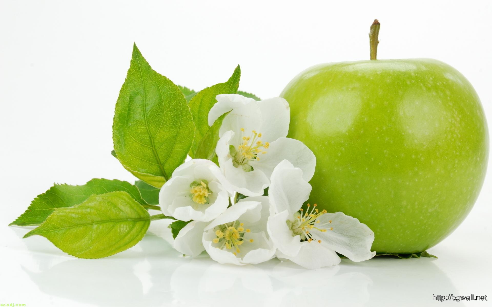 Flower-with-Green-Apple-iPhone-Wallpaper