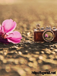 Flower-with-Pendant-Camera-Wallpaper