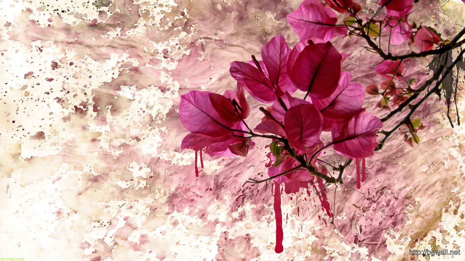 Flowers-Pink-Colors-Art-Wallpaper