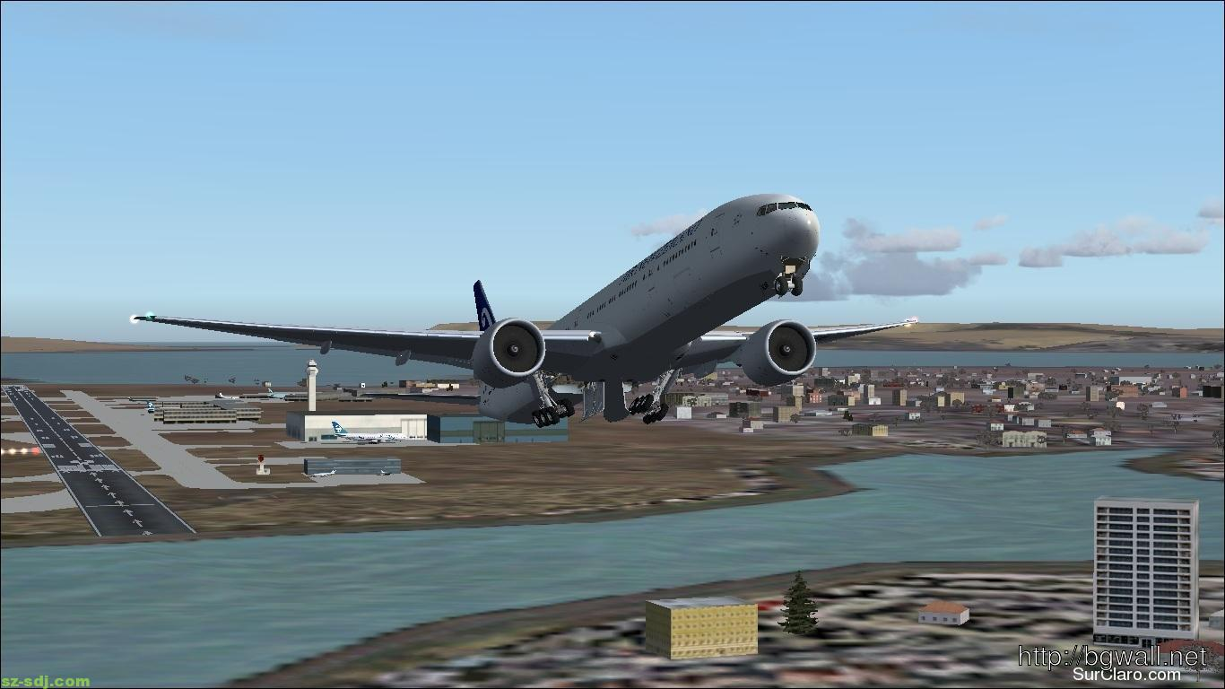 a-plane-take-off-in-auckland-wallpaper-3d