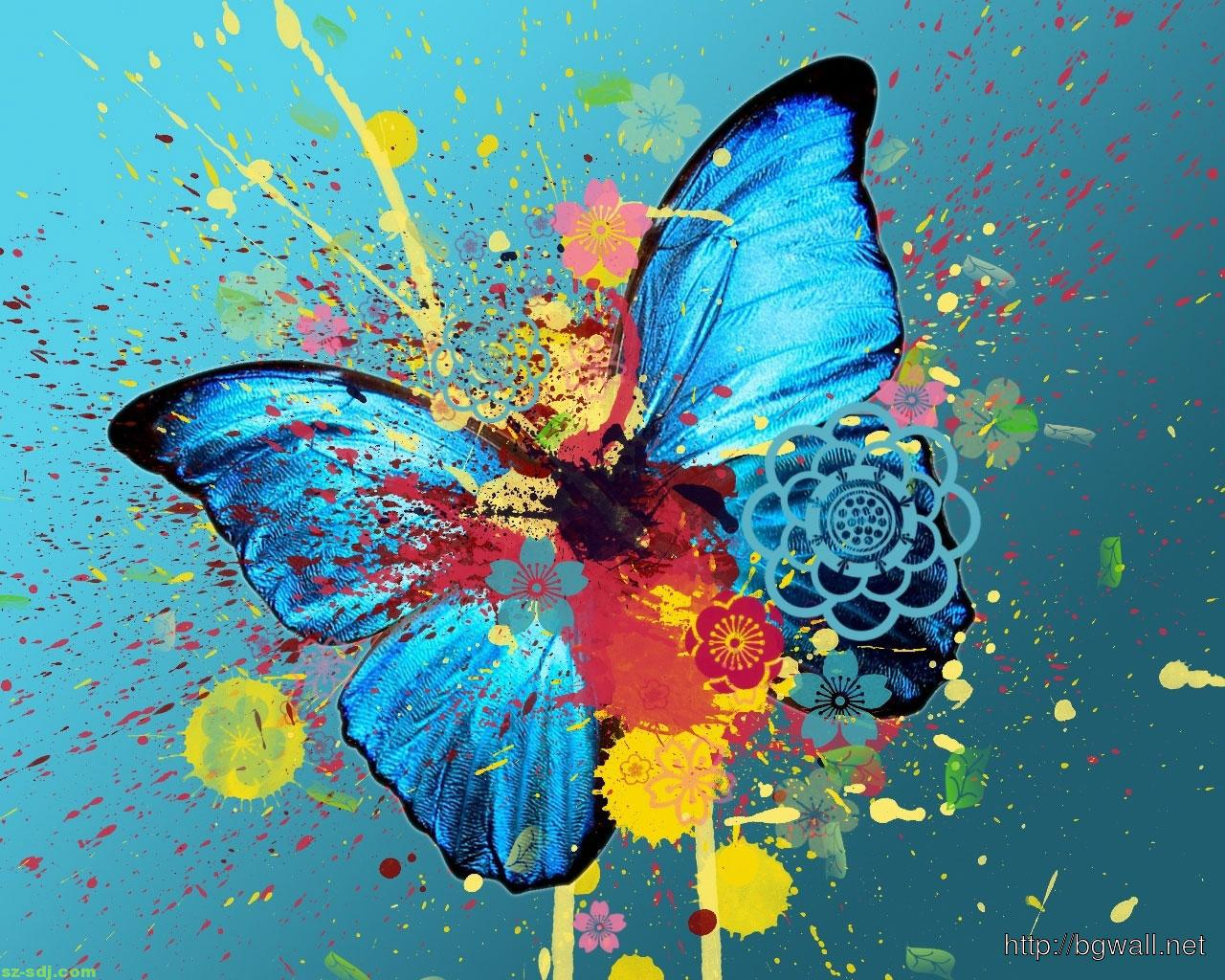 butterfly blue abstract wallpaper - photo #15