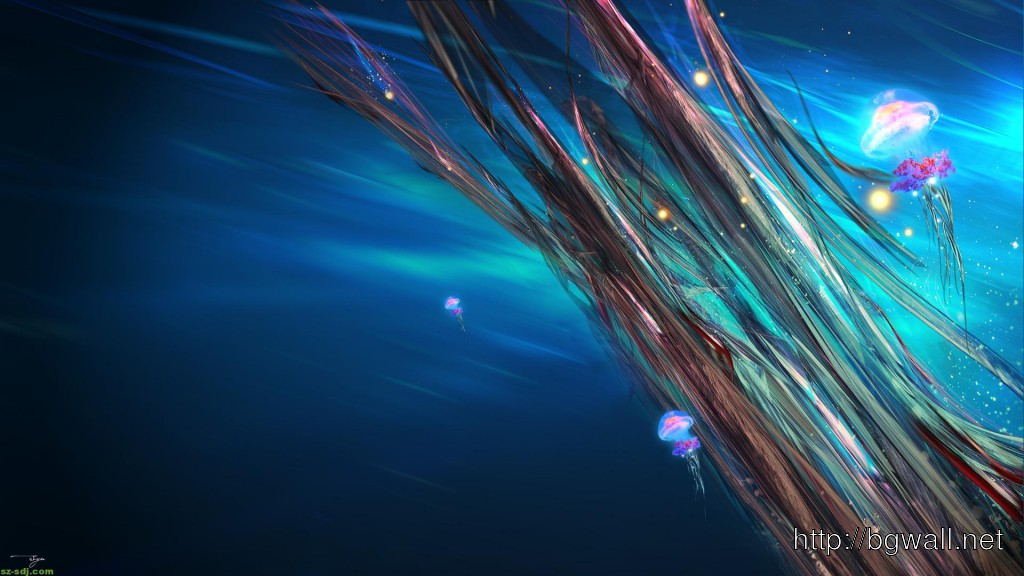 abstract colorful jellyfish wallpaper hd