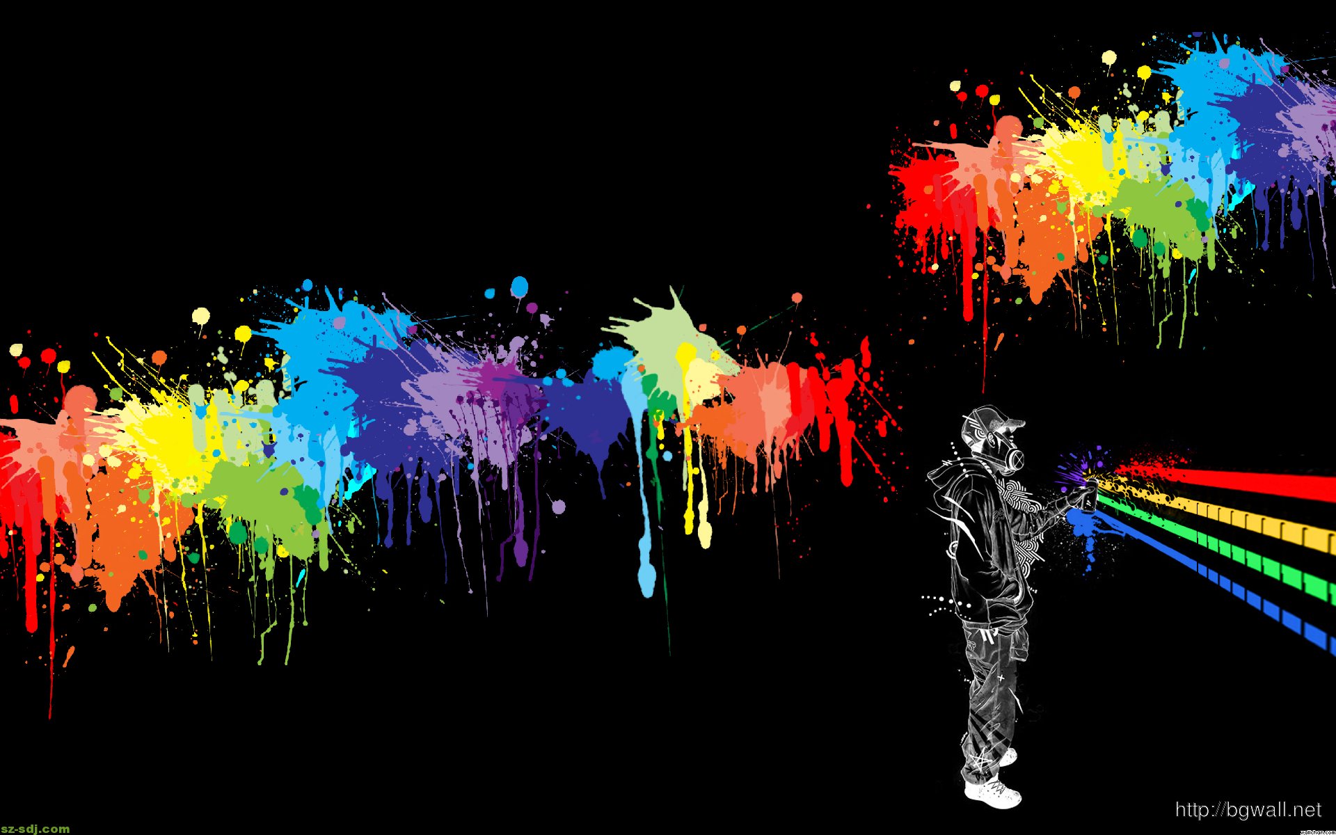 Abstract Colorfull Spray Paint Wallpaper Background