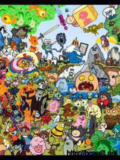 adventure-time-mixed-characters-wallpaper