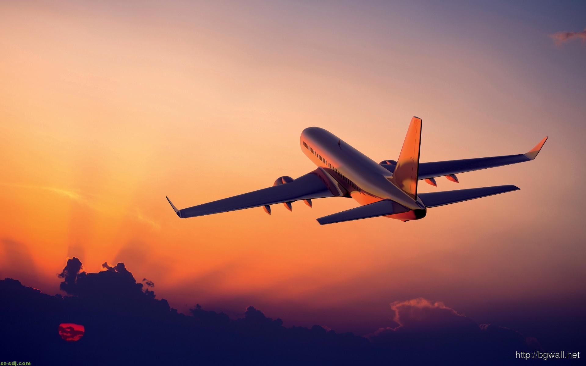 airplane-sunset-desktop-wallpaper