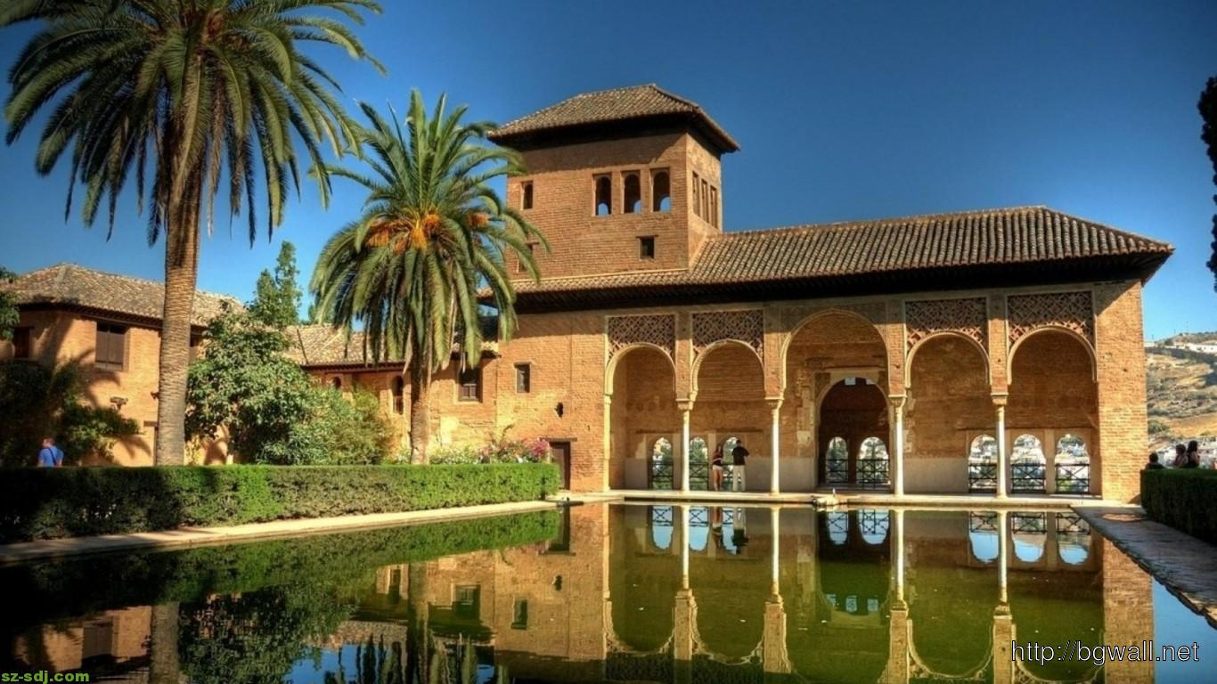 Alhambra Building Inside Wallpaper Widescreen Desktop