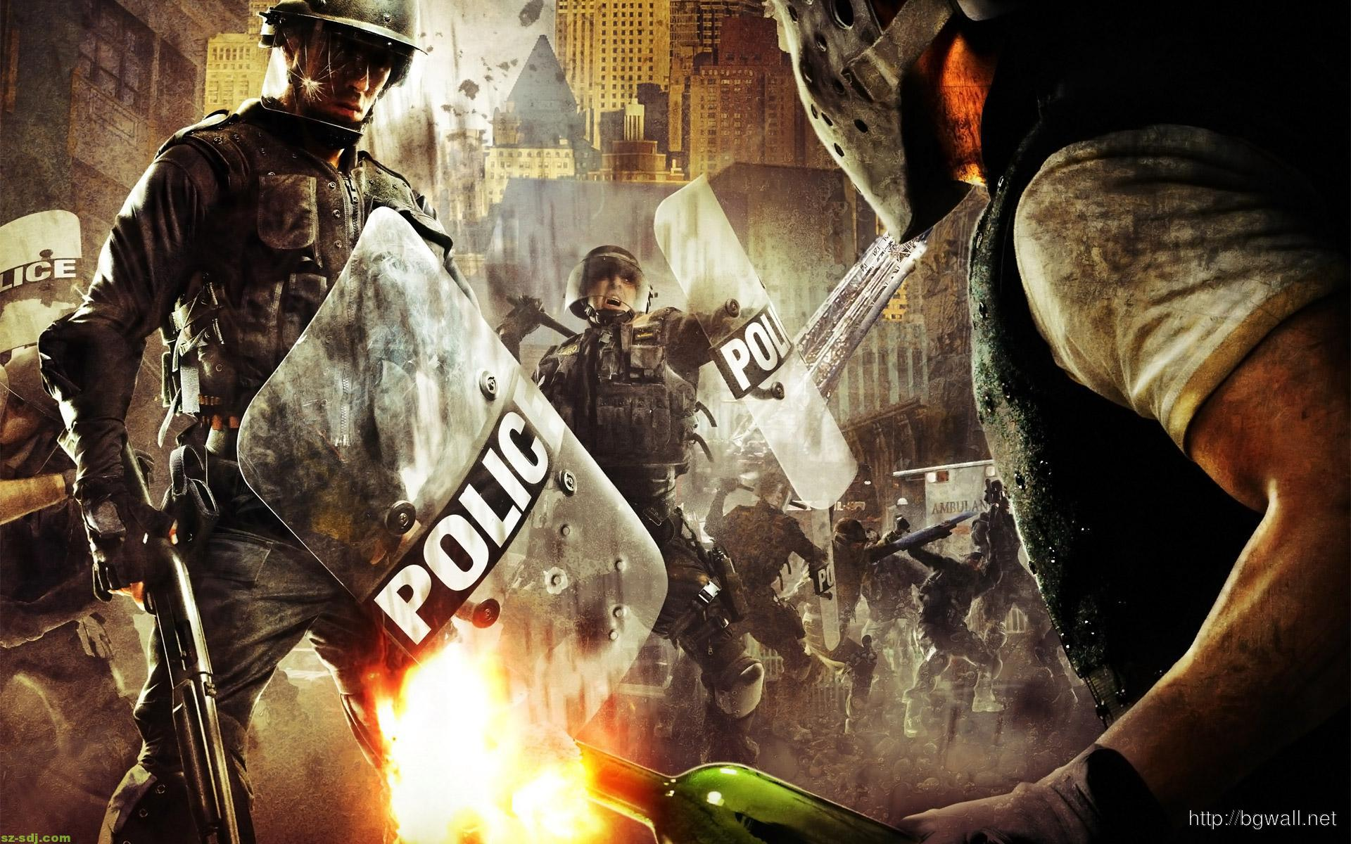 amazing-police-war-wallpaper