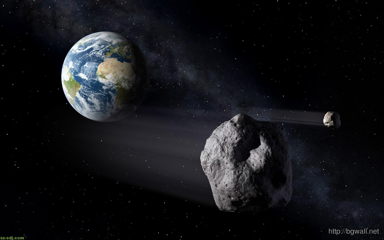 asteroid-and-earth-wallpaper-hd