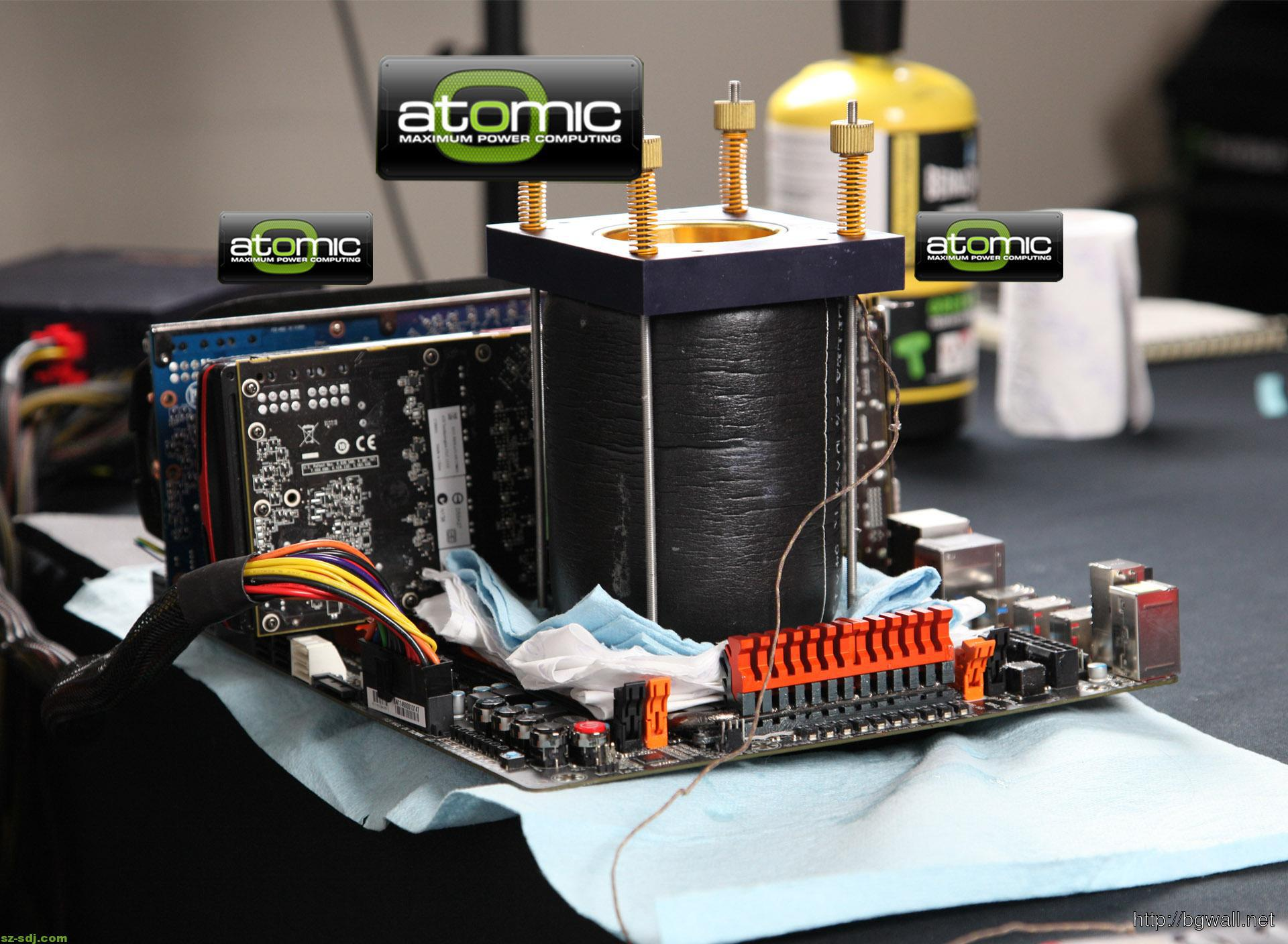 Atomic Mini Motherboard Overclocking Wallpaper