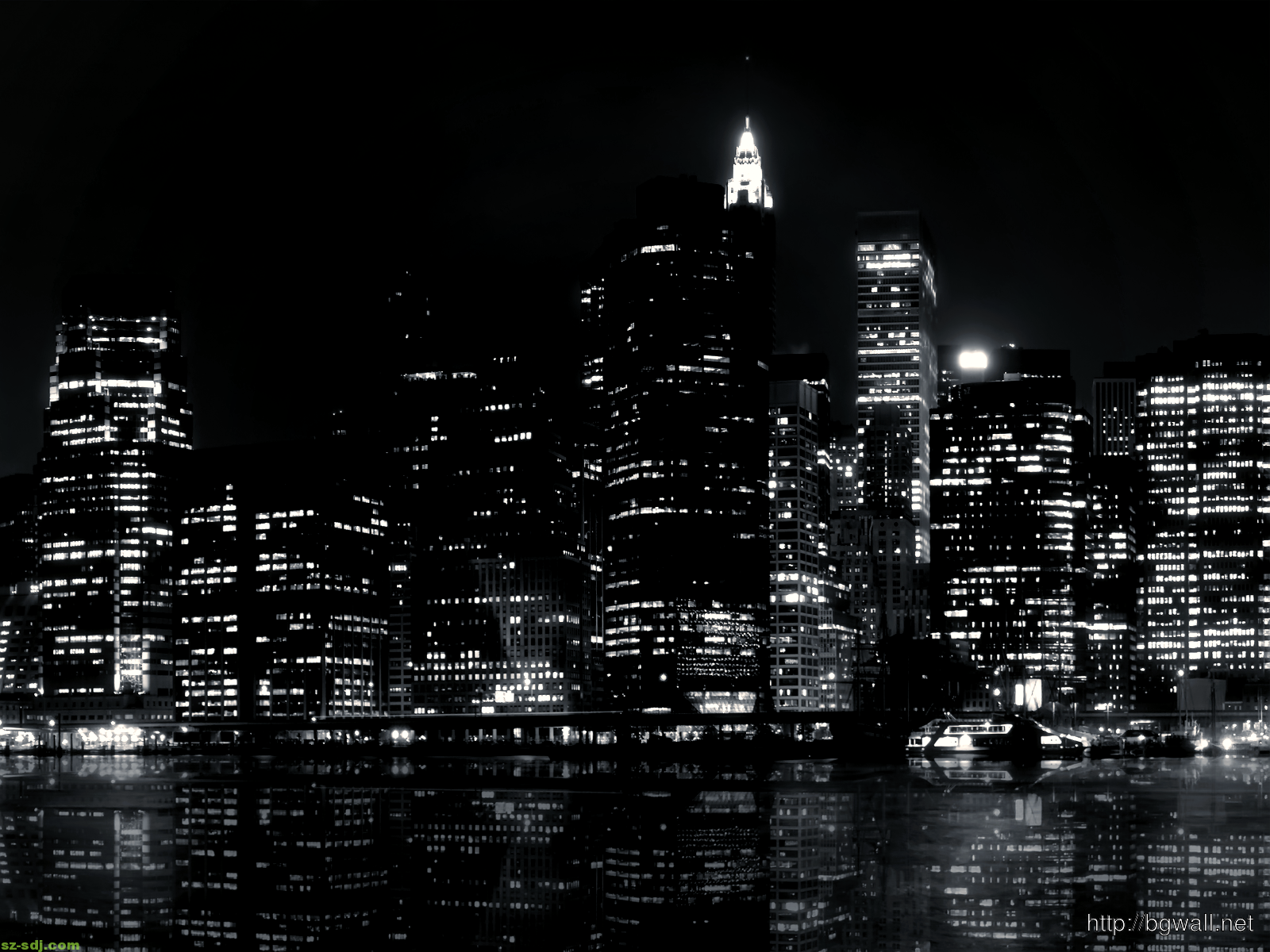 Awesome Black And White City Wallpaper Desktop