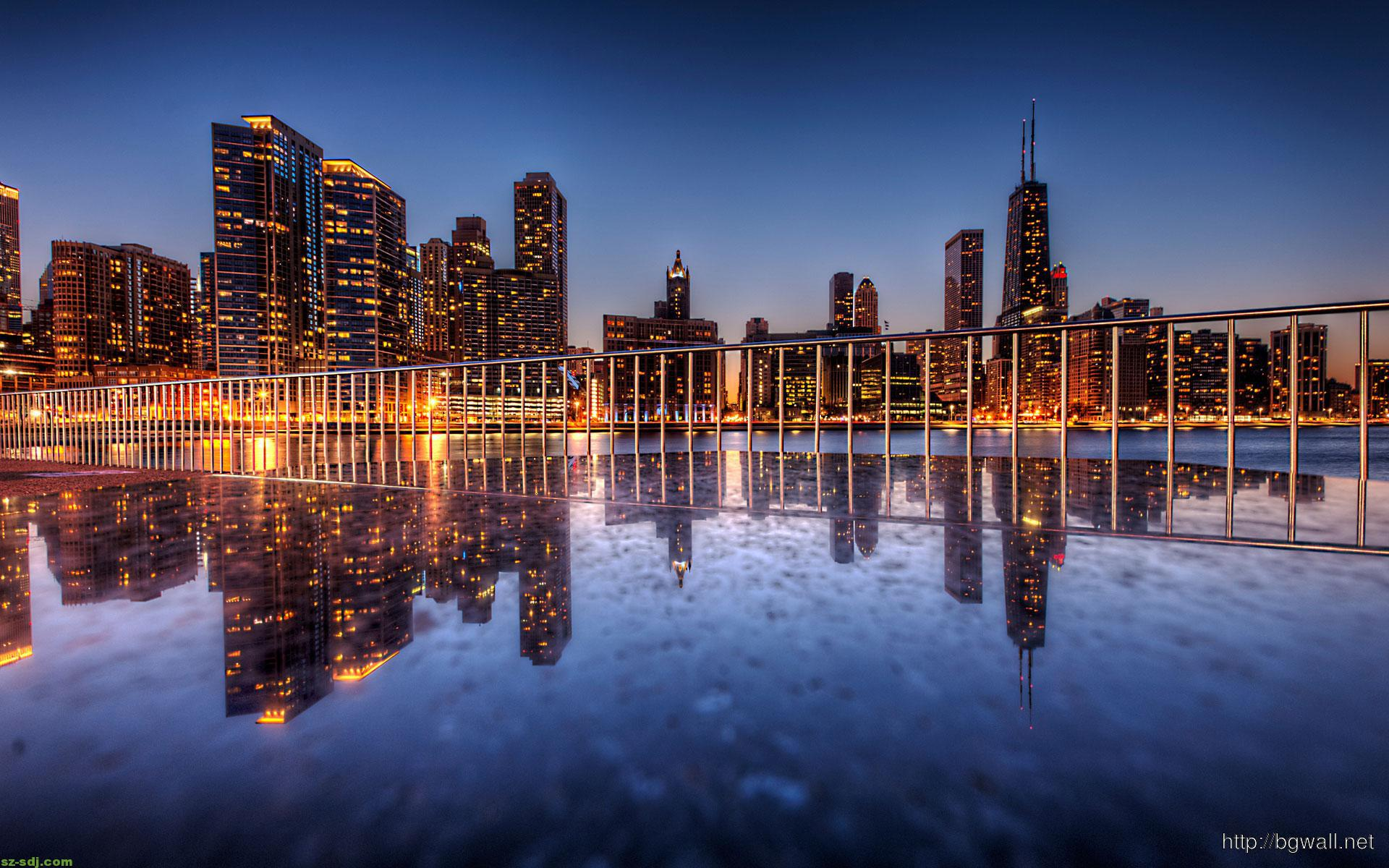 Awesome chicago reflection wallpaper background wallpaper hd awesome chicago reflection wallpaper voltagebd Image collections