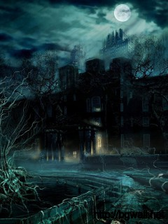 awesome-dark-castle-creative-landscape-wallpaper