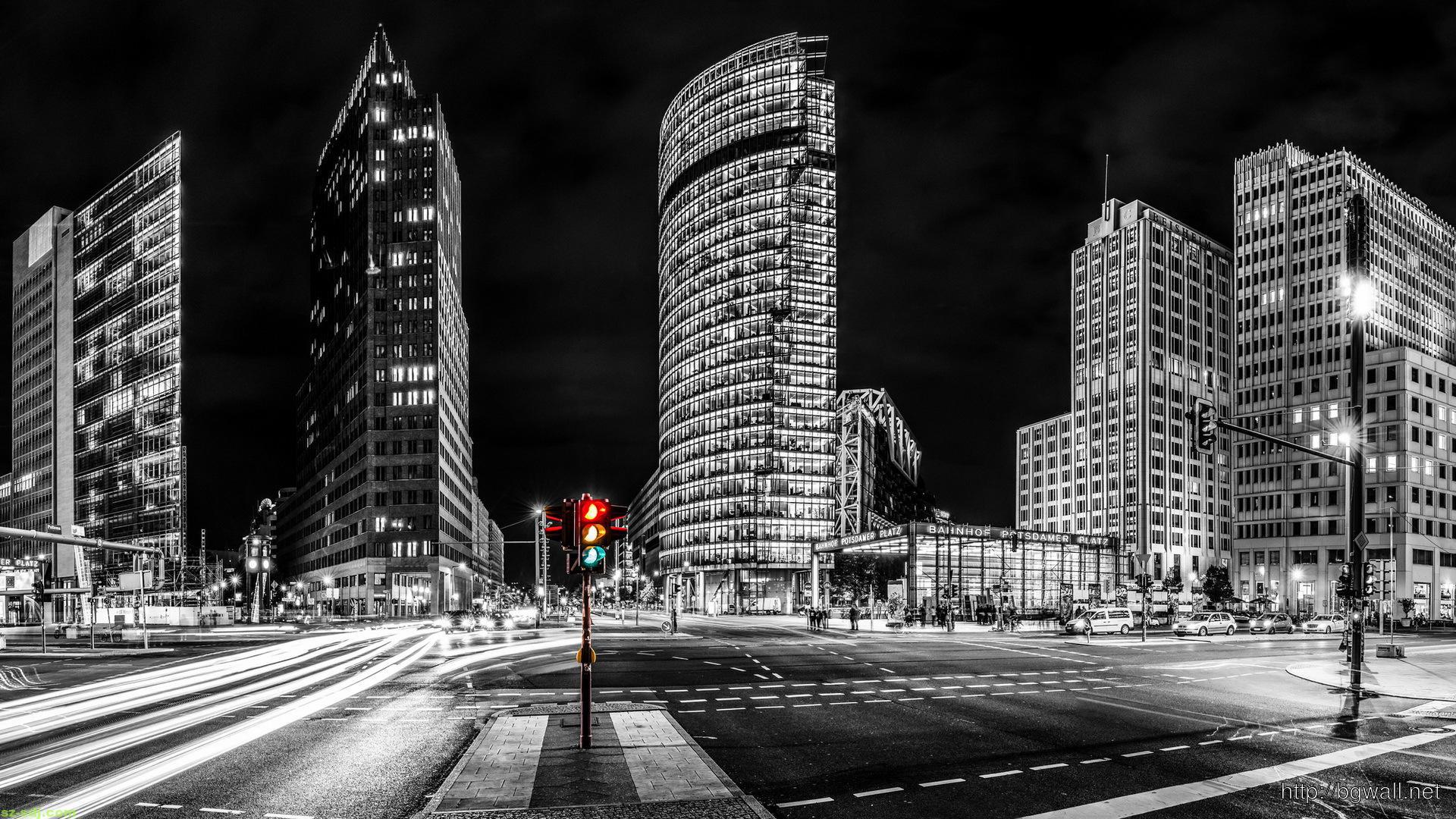 awesome-grayscale-photography-with-traffic-ight-berlin-wallpaper-high-quality