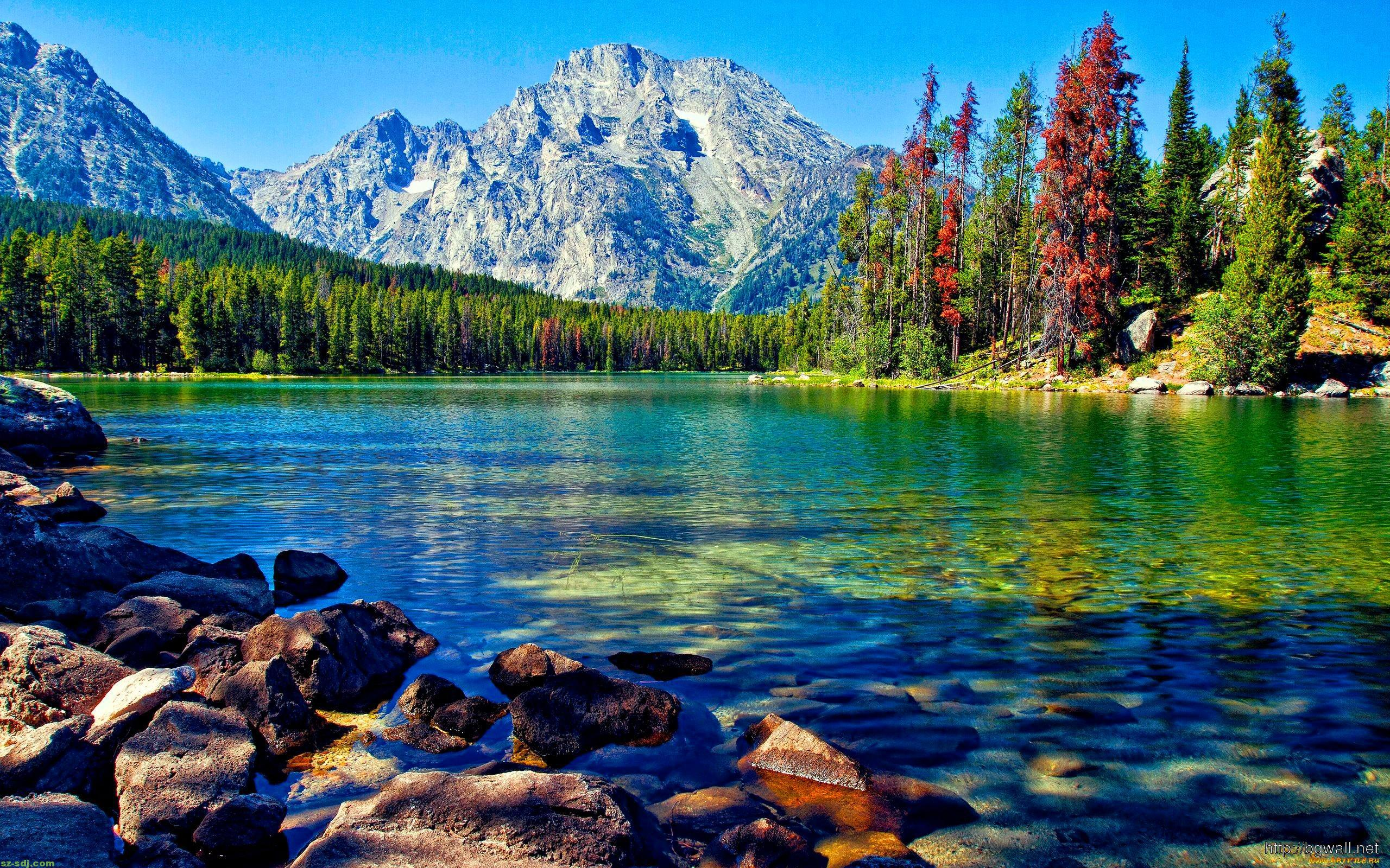 Awesome Lake With Mountain Wallpaper For Desktop ...