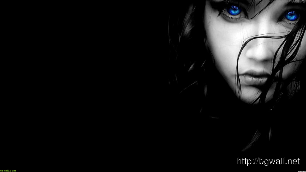 Black And Blue Eyes Wallpaper Widescreen