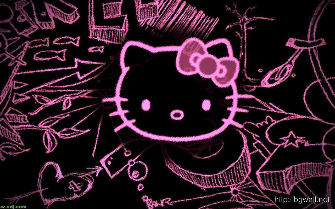 Black Hello Kitty Wallpaper Widescreen Background Wallpaper Hd