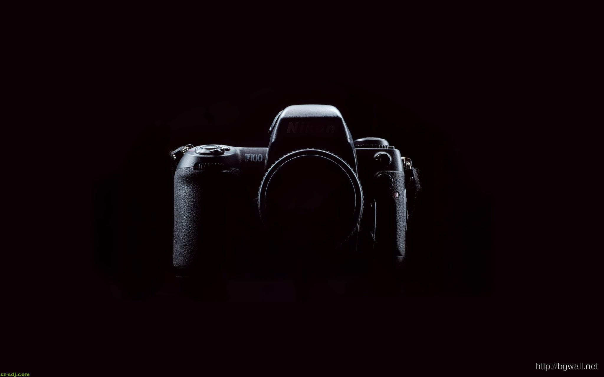 black-nikon-camera-wallpaper-wide
