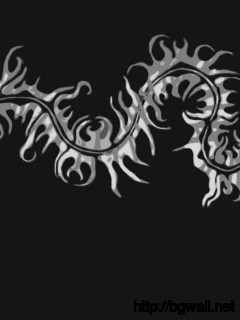 black-white-centipede-design-wallpaper-image