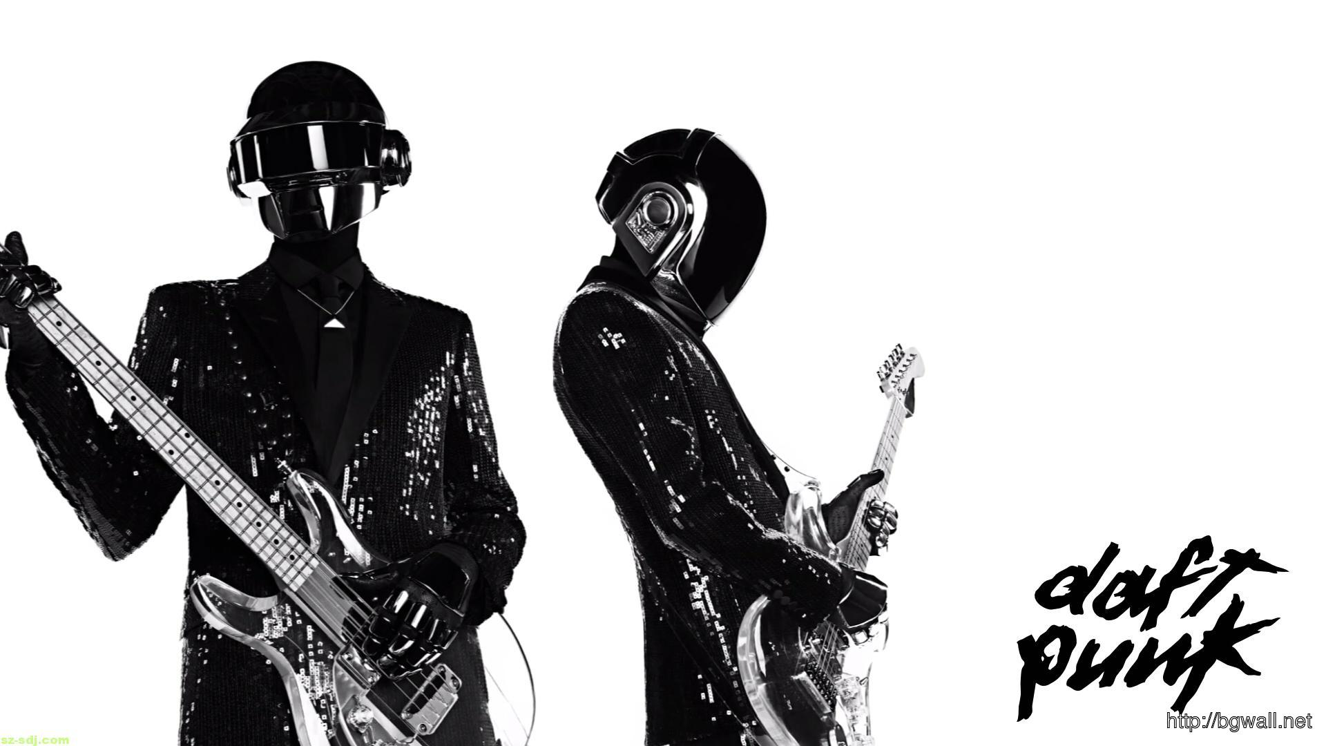 Black White Daft Punk Wallpaper - Background Wallpaper HD