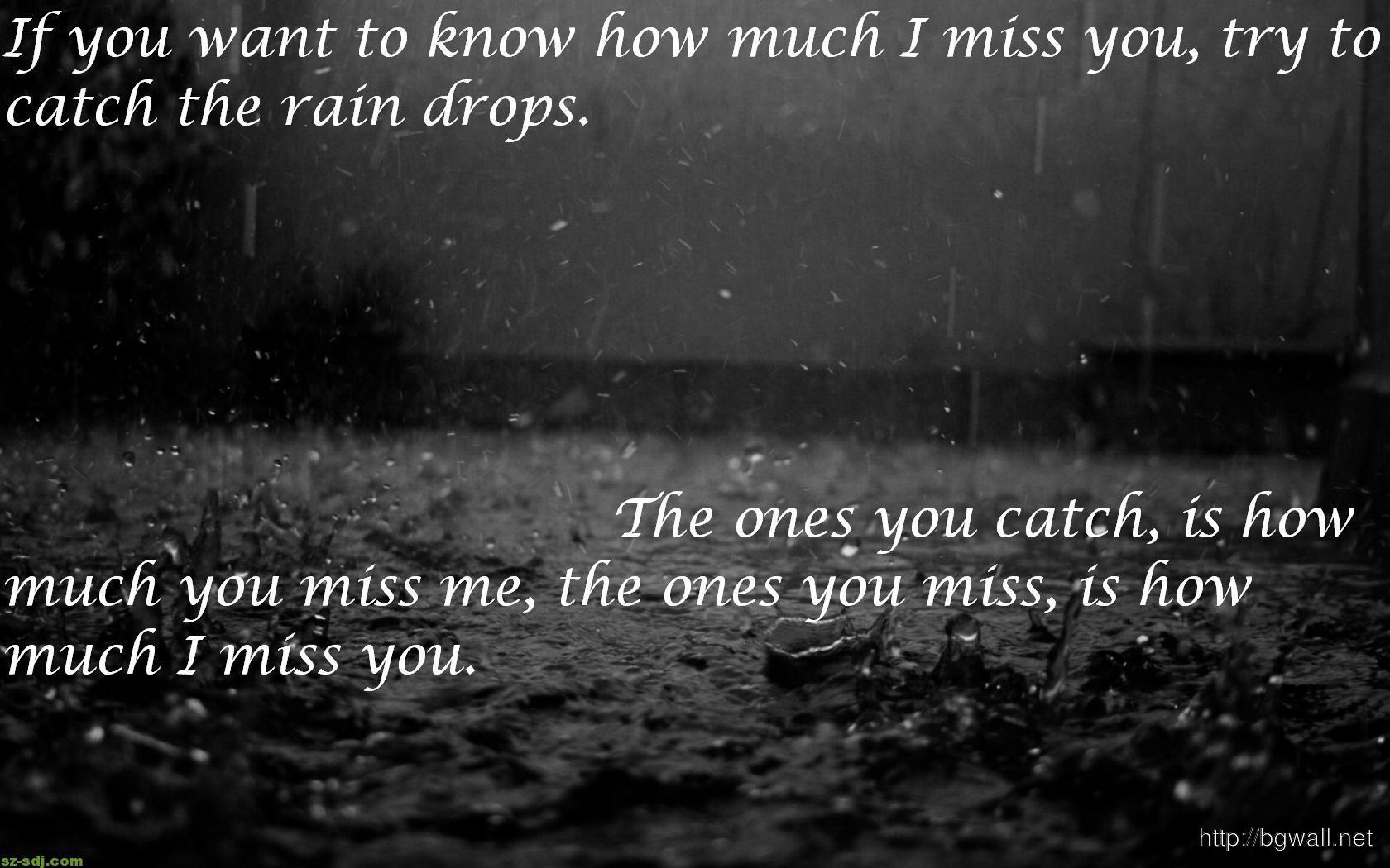 black-white-rain-quote-wallpaper