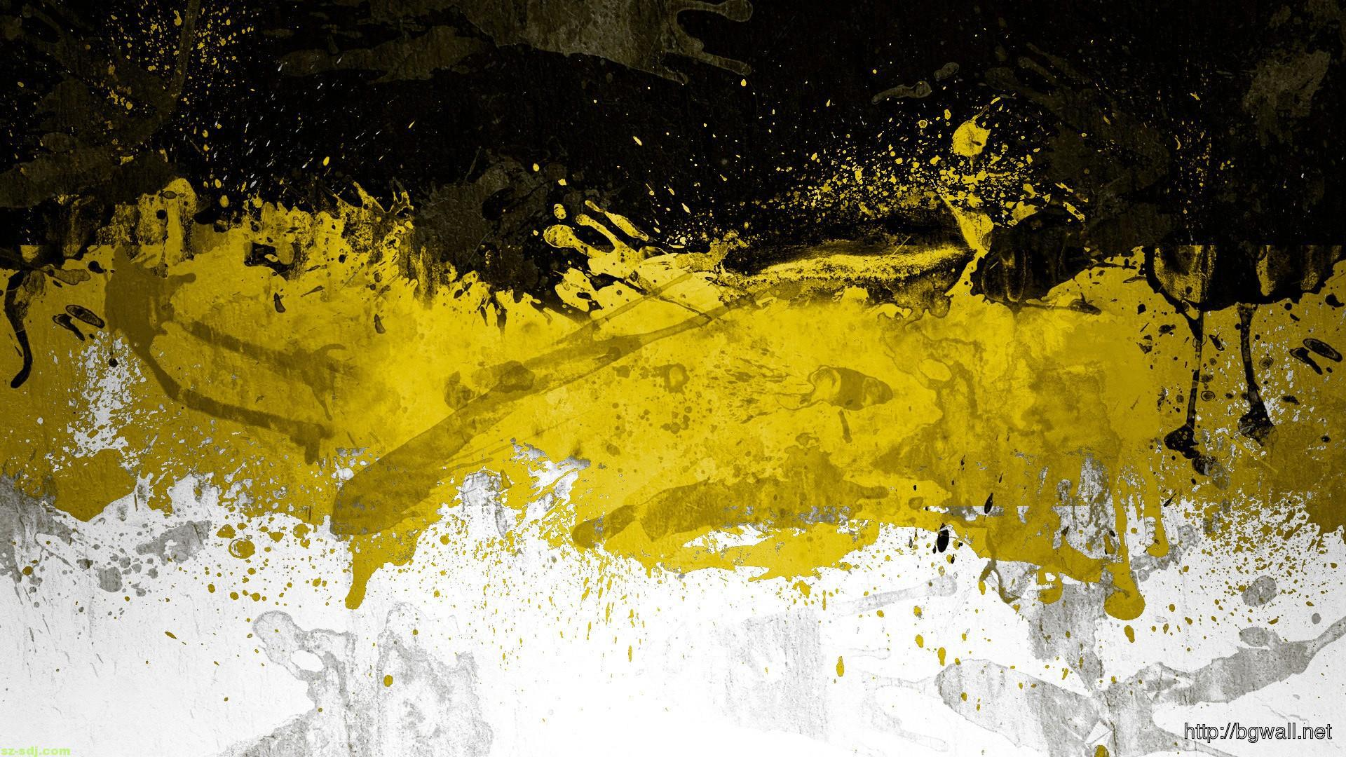 Black Yellow Abstract Wallpaper Background Wallpaper Hd