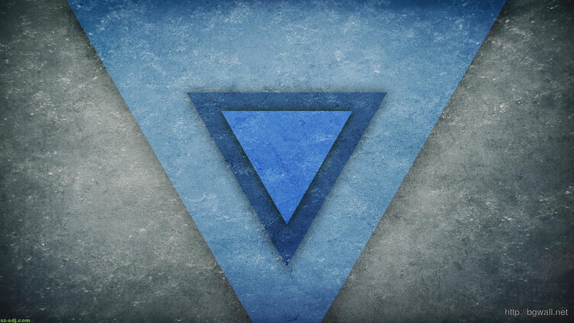 blue-art-triangle-wallpaper