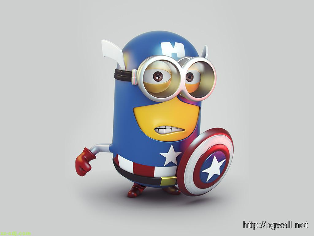 Hd wallpaper of captain america - Blue Captain America Minion Wallpaper Hd