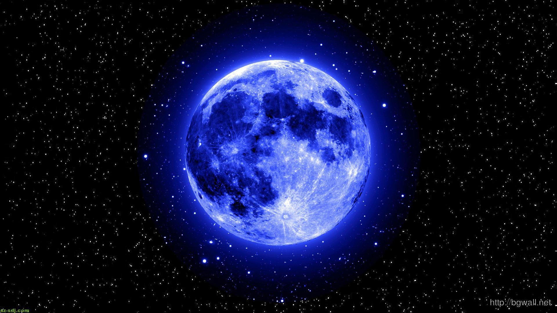 blue moon and star wallpaper widescreen – background wallpaper hd