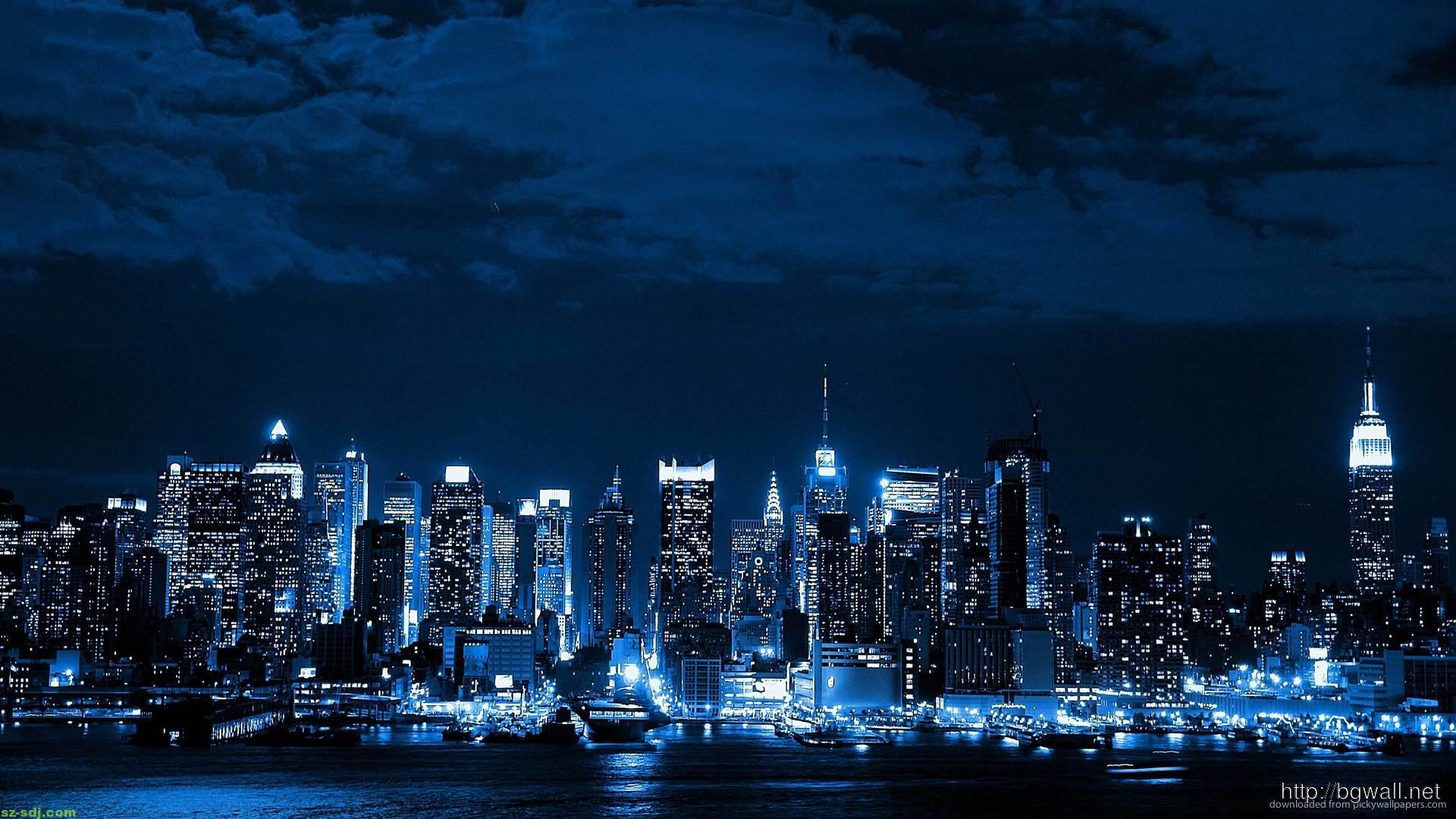 Blue Night City Wallpaper Picture