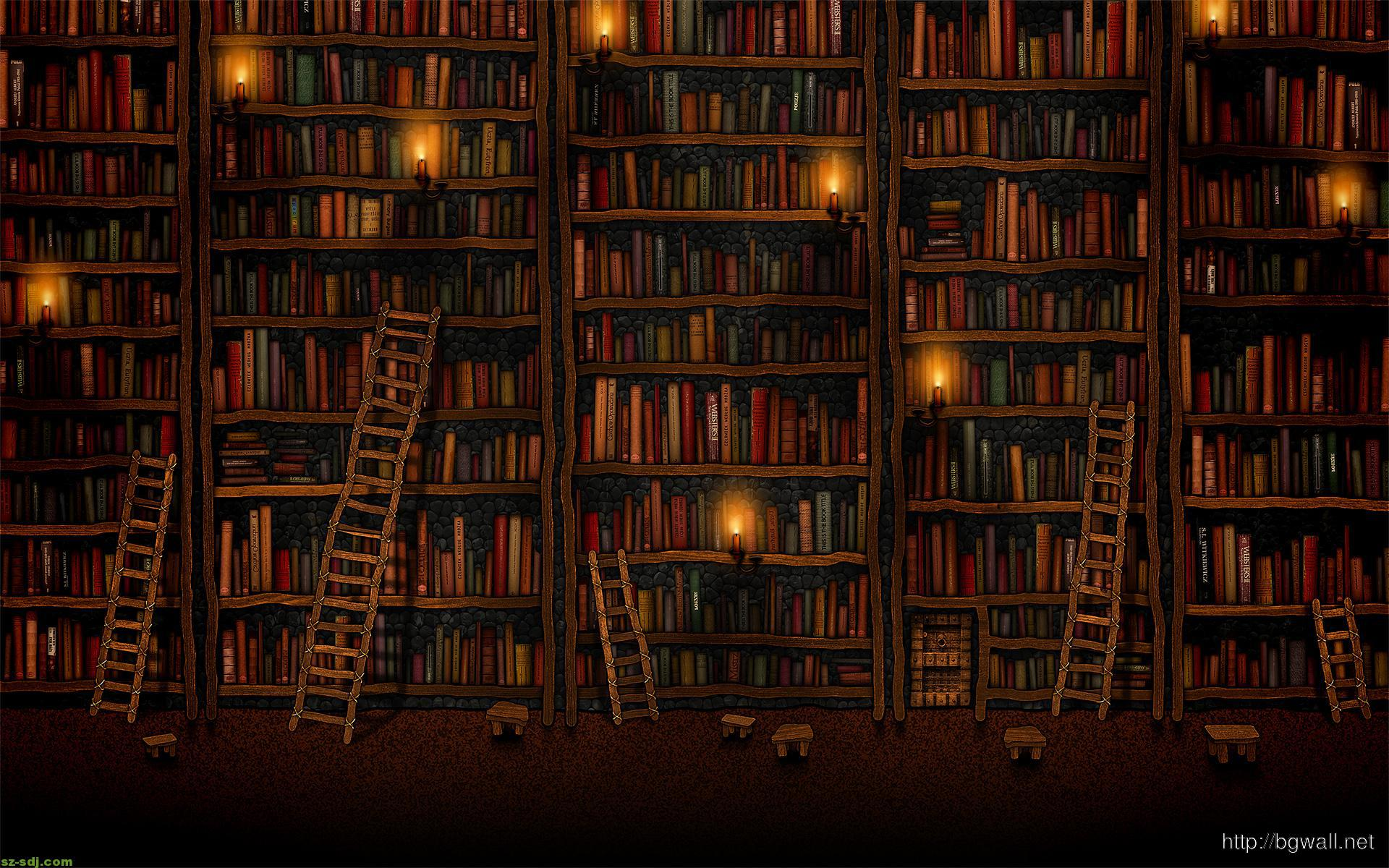Books At The Library Wallpaper Picture