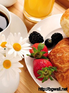 cake-with-coffe-for-breakfast-wallpaper