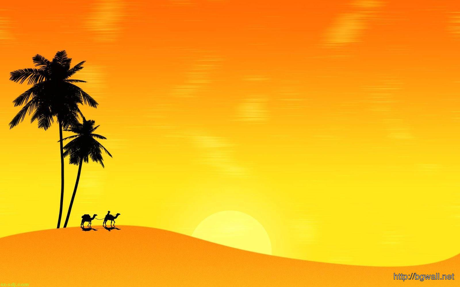 camel-with-yellow-background-wallpaper-