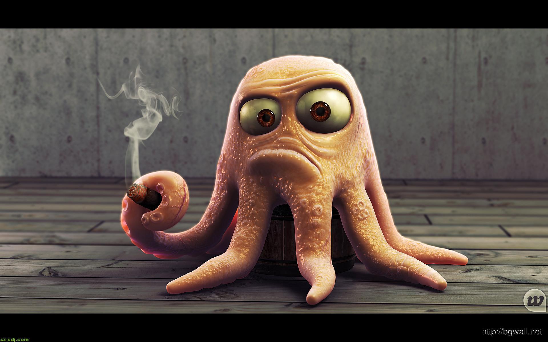 cartoon-octopus-funny-wallpaper