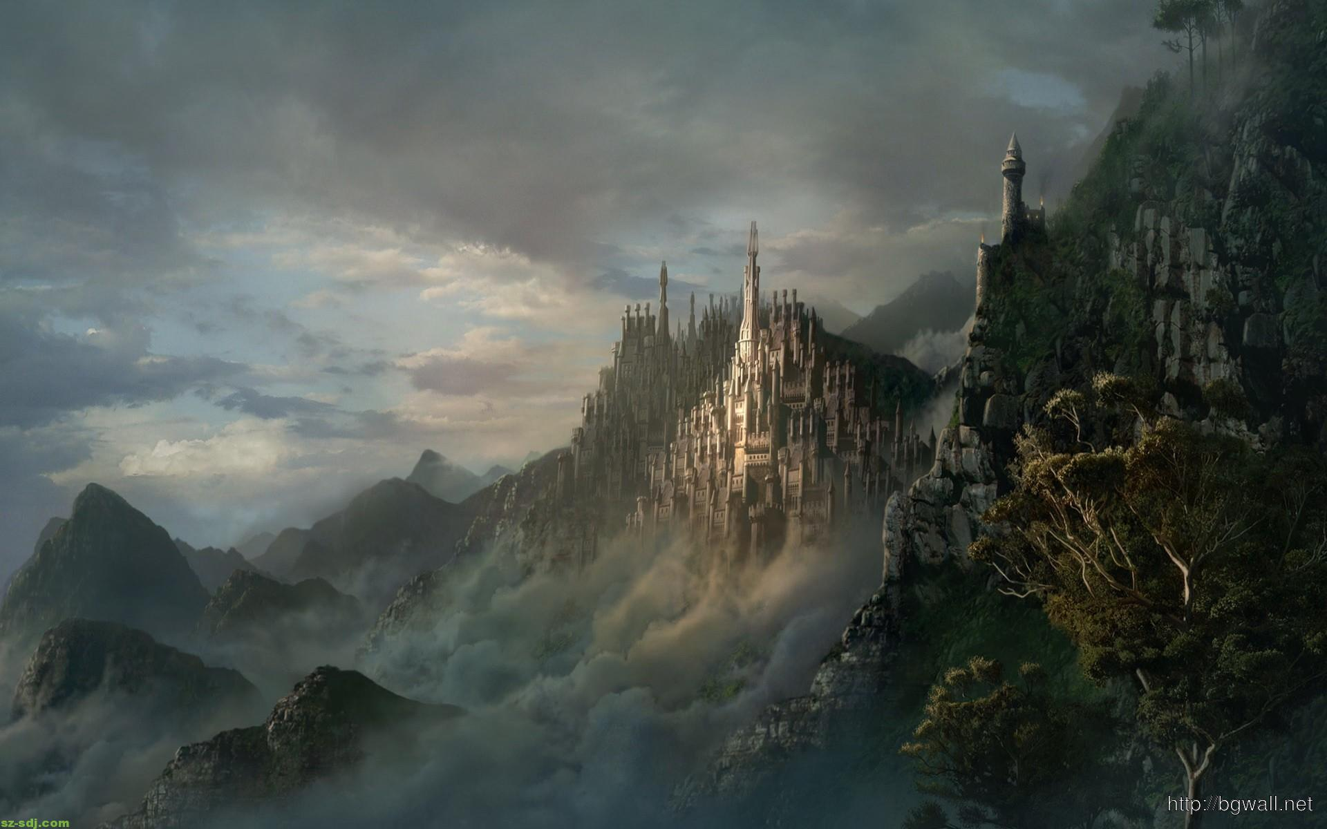 castle-on-mountain-wallpaper-high-definition