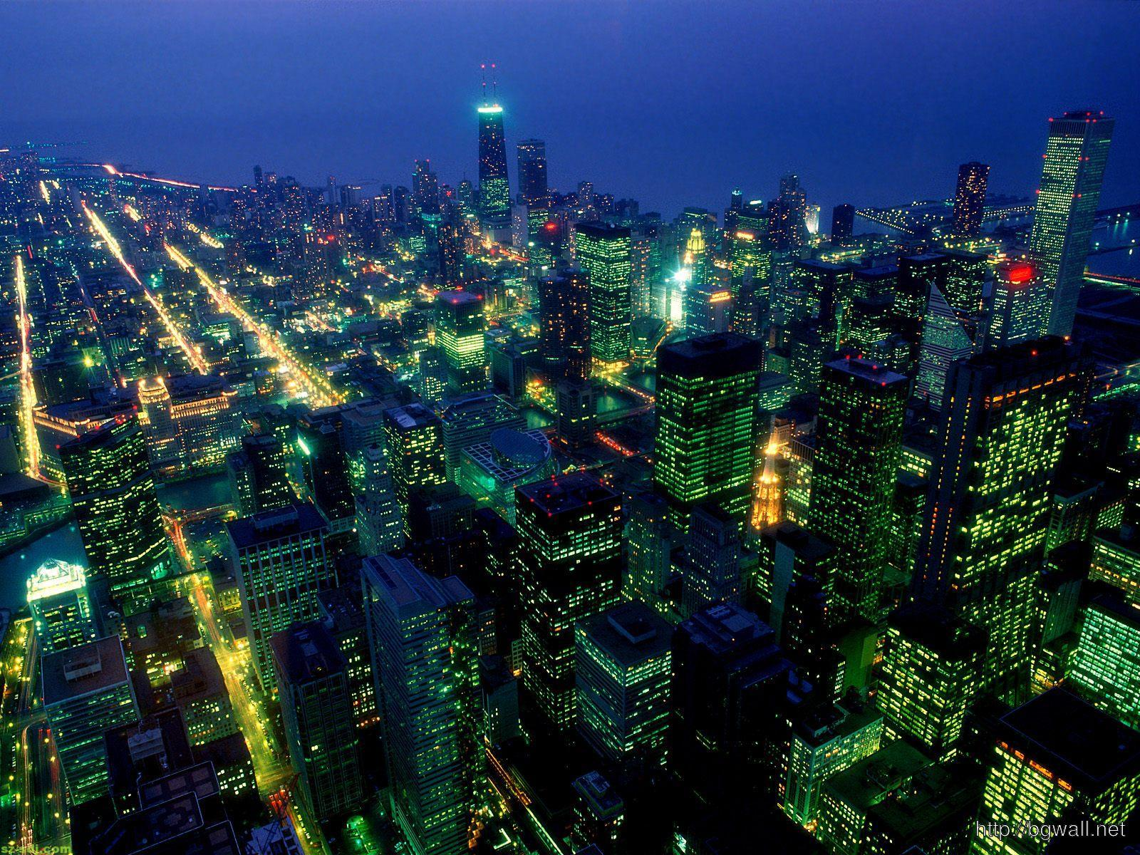 Chicago Night Desktop Wallpaper