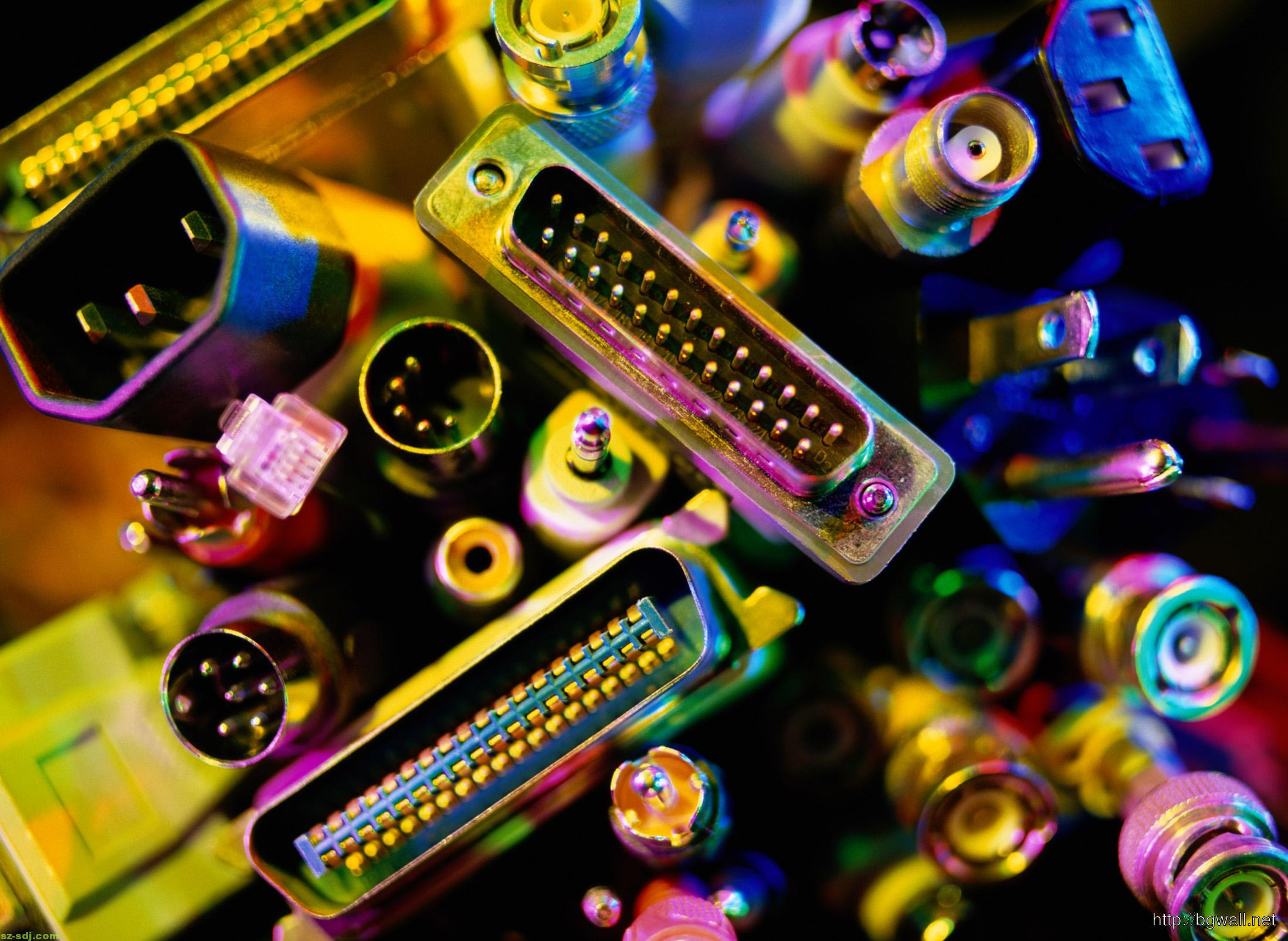 Circuits Cable And Electronics Computer Wallpaper