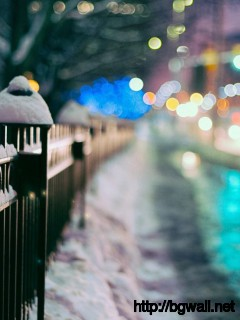 city-fence-winter-wallpaper-high-resolution