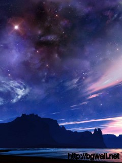 clear-night-sky-in-the-desert-wallpaper