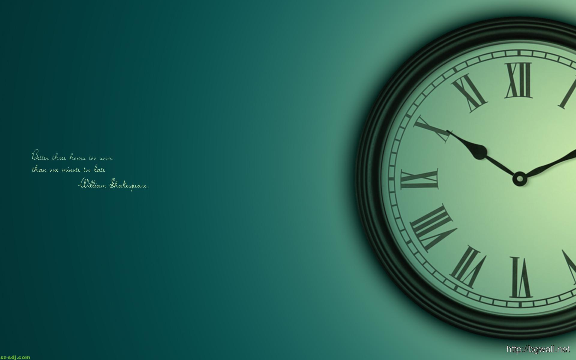 Clock With Quote Wallpaper Hd – Background HD