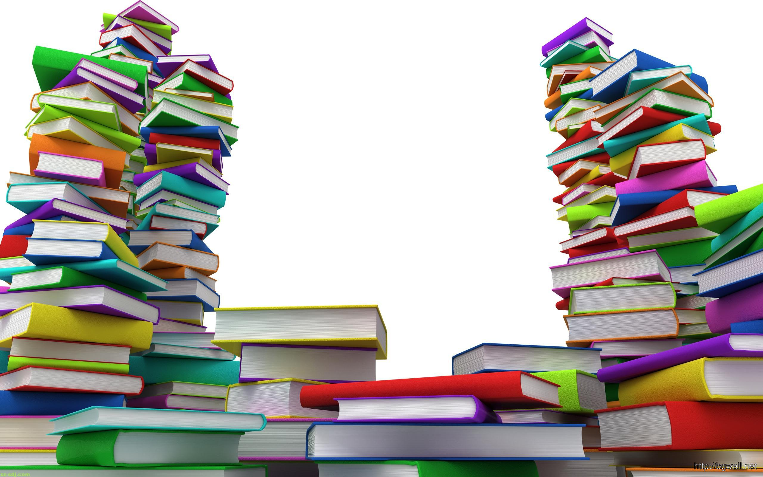 Colorful Books Wallpaper Background – Background Wallpaper HD