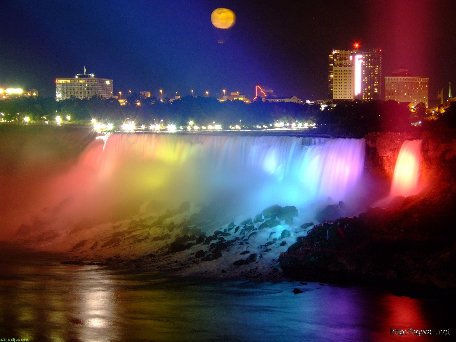 colorful-niagara-waterfall-at-the-night-wallpaper-hd