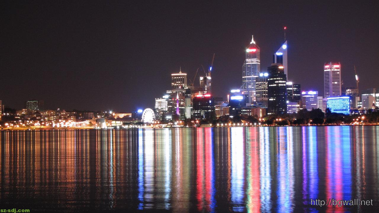 Colorfull Perth Nighscape Wallpaper Images Hi Res