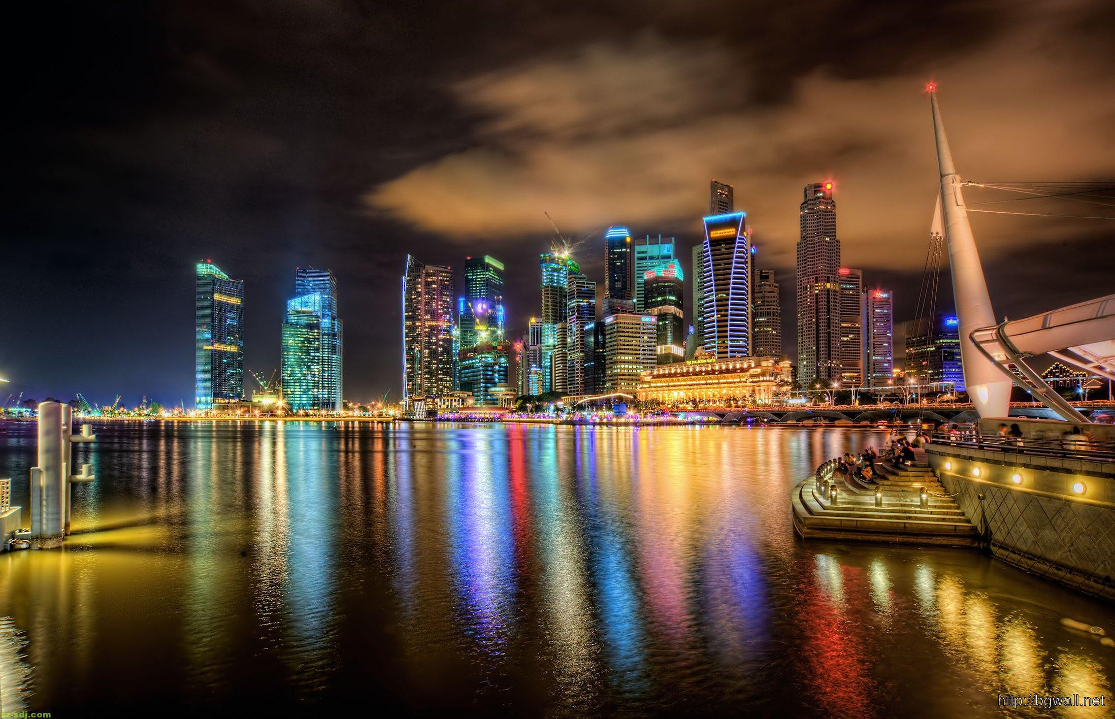 Colorfull singapore city wallpaper desktop widescreen for 3d wallpaper for home singapore