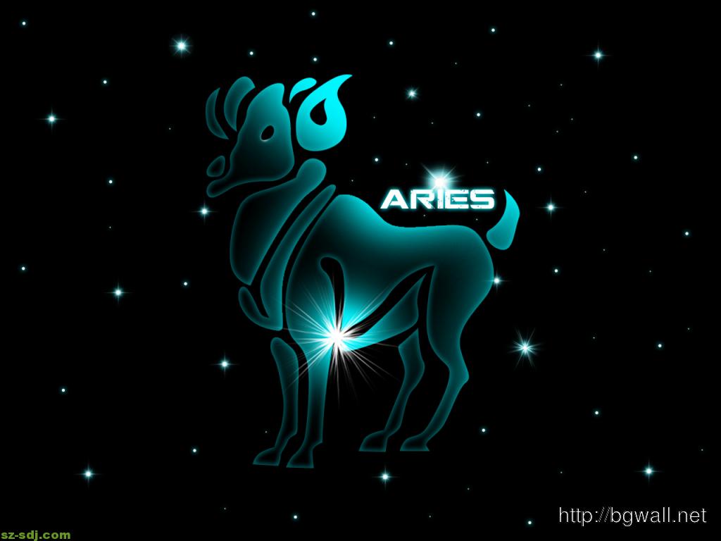 Cool Aries Light Desktop Wallpaper